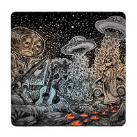 Posterboy Charbak Sad Alien Coasters - set of 4