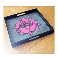 Amalgam The Lively Lotus Square Tray - Pink