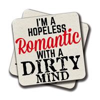 Amey Hopeless Romantic Coasters - set of 2