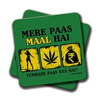 Amey Mere Paas Stuff Hai Coasters - set of 2