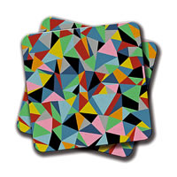 Amey Continuous Pattern Coasters - set of 2