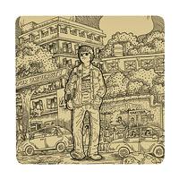 Posterboy Charbak Lokayata Coasters - set of 4