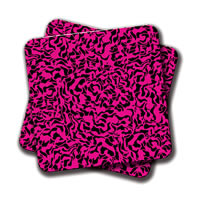 Amey Abstract Pink Coasters - set of 2