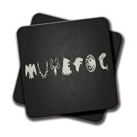 Amey Black Logo Coasters - set of 2