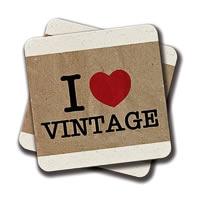 Amey I Love Vintage Coasters - set of 2