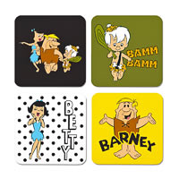 Warner Brothers The Flintstones Characters I Coasters - set of 4