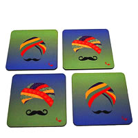 Twirly Tales Turban Series Coasters - set of 4