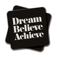 Amey Dream, Believe, Achieve Coasters - set of 2