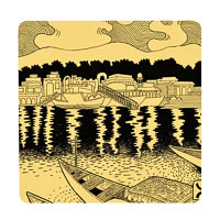 Posterboy Charbak Dal Lake Coasters - set of 4