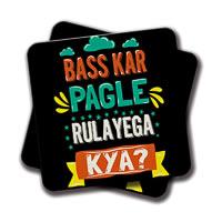 Amey Bas Kar Pagle Coasters - set of 2