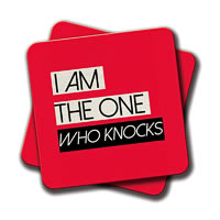 Amey I am the One Who Knocks Coasters - set of 2