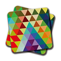 Amey Tri Color Coasters - set of 2