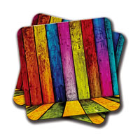 Amey Indian Stripes Coasters - set of 2