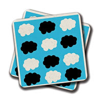 Amey Cloud Logo Coasters - set of 2