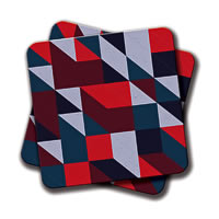 Amey Stripes Coasters - set of 2