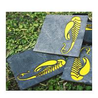 Amalgam The Pretty Paisley Coasters (Yellow) - set of 4