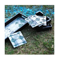 Amalgam The Bloom Coasters (Turqoise) - set of 4