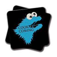 Amey Cookies are Coming Coasters - set of 2