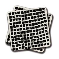 Amey Black Brush Coasters - set of 2
