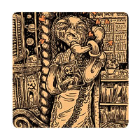 Posterboy Charbak Alien Lovers Coasters - set of 4