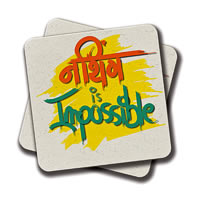 Amey Nothing Impossible Coasters - set of 2