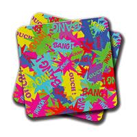 Amey Neon Comics Coasters - set of 2