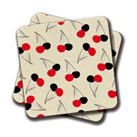 Amey Cherries Coasters - set of 2