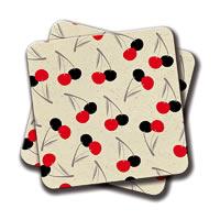 Amey Cherries Coasters - set of 2