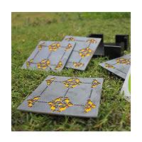 Amalgam The Bloom Coasters (Yellow) - set of 4