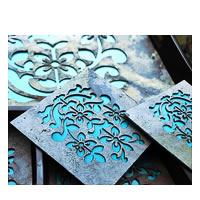 Amalgam The Blooming Performance Coasters (Turqoise) - set of 4