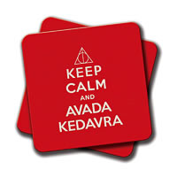 Amey Keep Calm and Avada Kedavra Coasters - set of 2