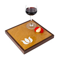 Amalgam Hand-carved Customary Lotus Motif Square Stone Platter