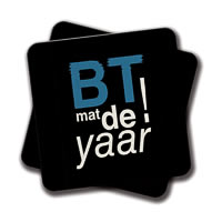 Amey BT Mat De Yaar Coasters - set of 2