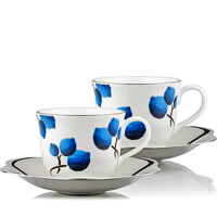 Arttdinox Blueberry Cup and Saucer, Large - set of 2