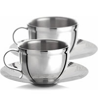Arttdinox Seamless Cup and Saucer - set of 2