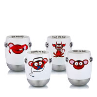 Arttdinox See No Evil Mug - set of 4