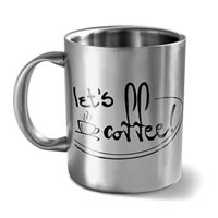 Hot Muggs Let's Coffee Mug