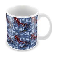 Marvel Civil War - Captain Iron Fight Ceramic Mug
