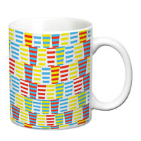 Prithish Abstract Design 28 White Mug