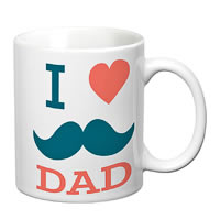 Prithish I Love Dad (Mooch) White Mug