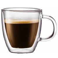 Bodum Bistro Double Wall Mug, Medium 300 ml - set of 2
