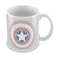 Marvel Captain America Logo Art New Ceramic Mug