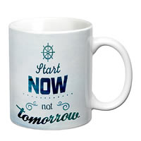 Prithish Start Now Not Tomorrow White Mug