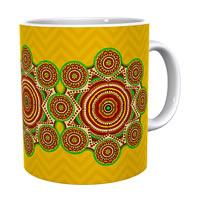 Kolorobia Brilliant Yellow Madhubani Classic White Mug