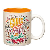 Prithish Girls Just Want to Have Fun Orange Double Color Mug