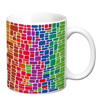 Prithish Abstract Design 40 White Mug