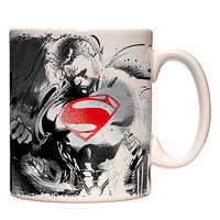 Warner Brothers Superman and Zod Sketch Mug