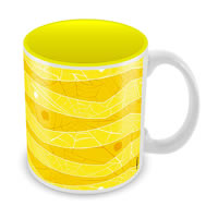 Marvel Spider-Man Net Yellow Ceramic Mug