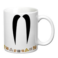 Prithish Mr Long Mooch White Mug