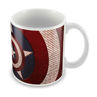 Marvel Logo Captain America Ceramic Mug